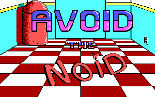 Avoid the Noid DOS Title screen for version 1.1 (EGA)