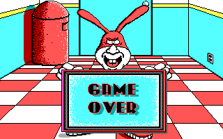 Avoid the Noid DOS Game Over (EGA)