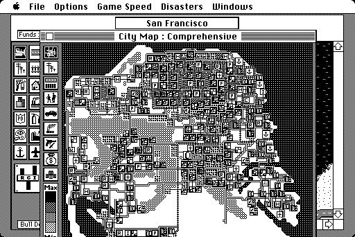 SimCity Macintosh Comprehensive map