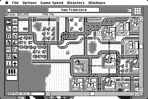 SimCity Macintosh Detailed map