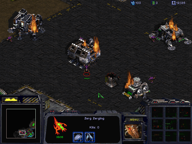 StarCraft (Demo Version) Windows The Zerg are ravaging a Terran city...