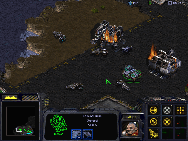 StarCraft (Demo Version) Windows ...until General Duke personally arrives to fend them off.
