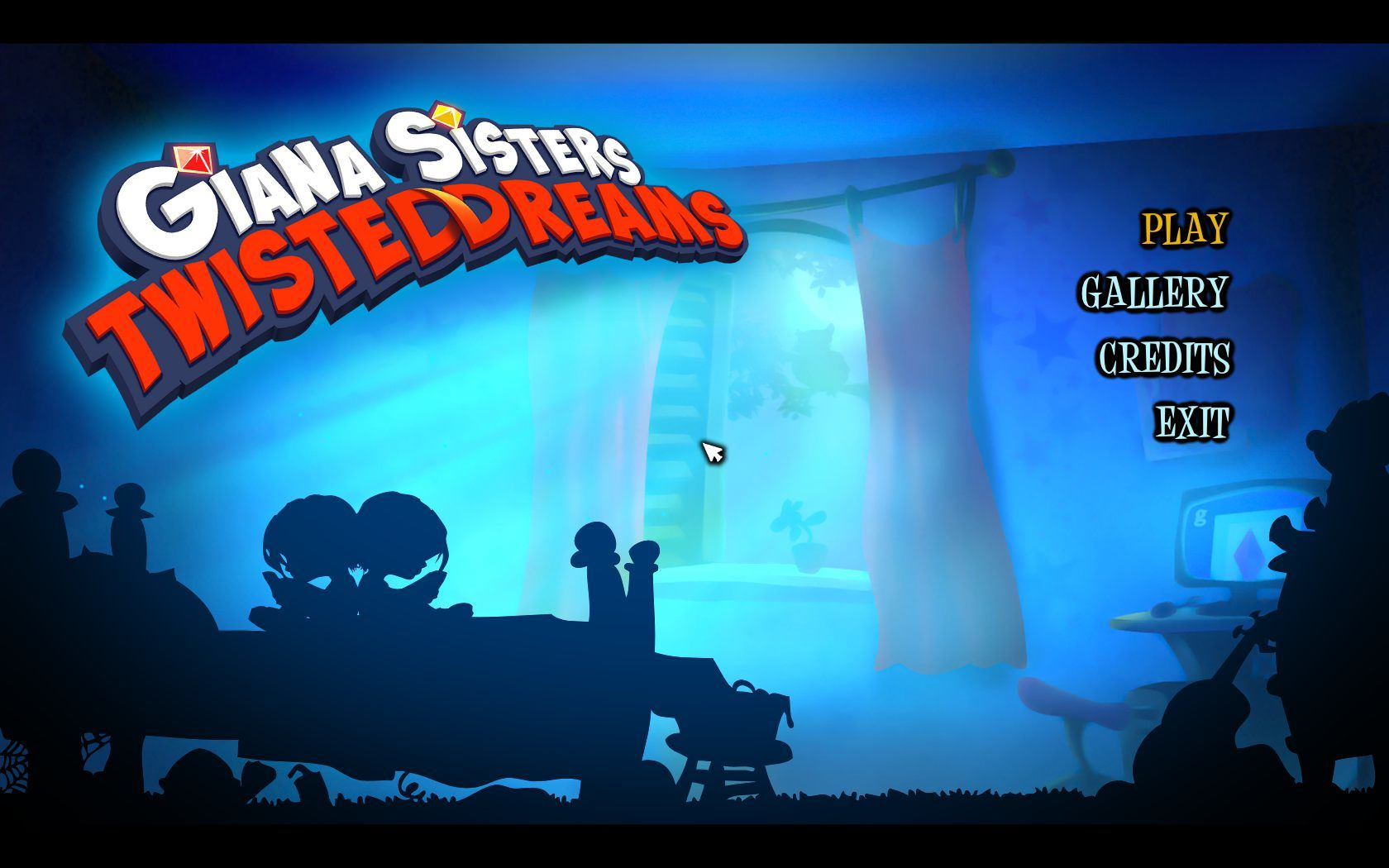 Giana Sisters: Twisted Dreams Windows Title screen
