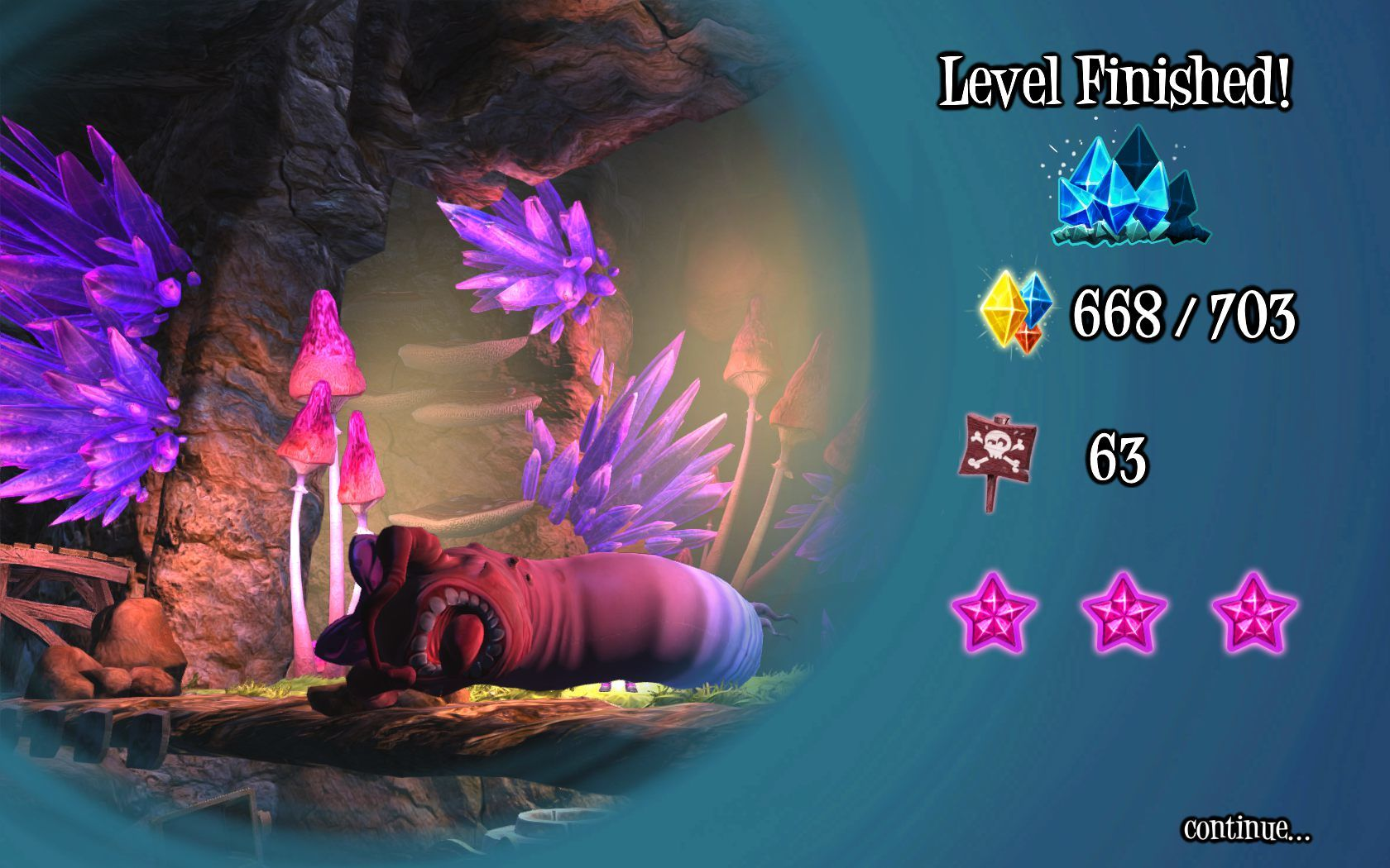 Giana Sisters: Twisted Dreams Windows World 1 completed.You should try to die less often to get more purple stars.
