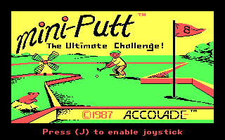 Mini-Putt DOS Title Screen (CGA Original)