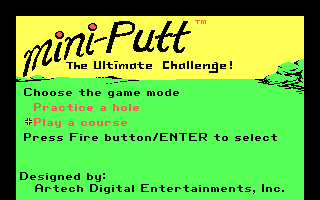 Mini-Putt DOS Choose Game Mode (CGA Original)