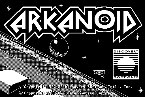 Arkanoid Macintosh Title screen
