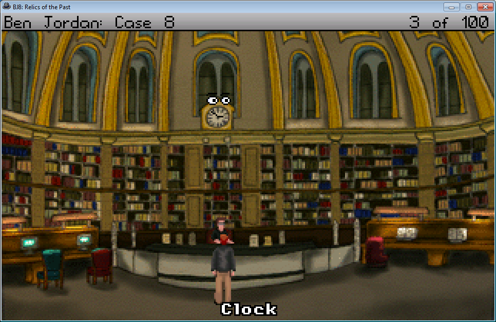 Ben Jordan: Paranormal Investigator Case 8 - Relics of the Past Windows The clock in the library shows the real-life time.