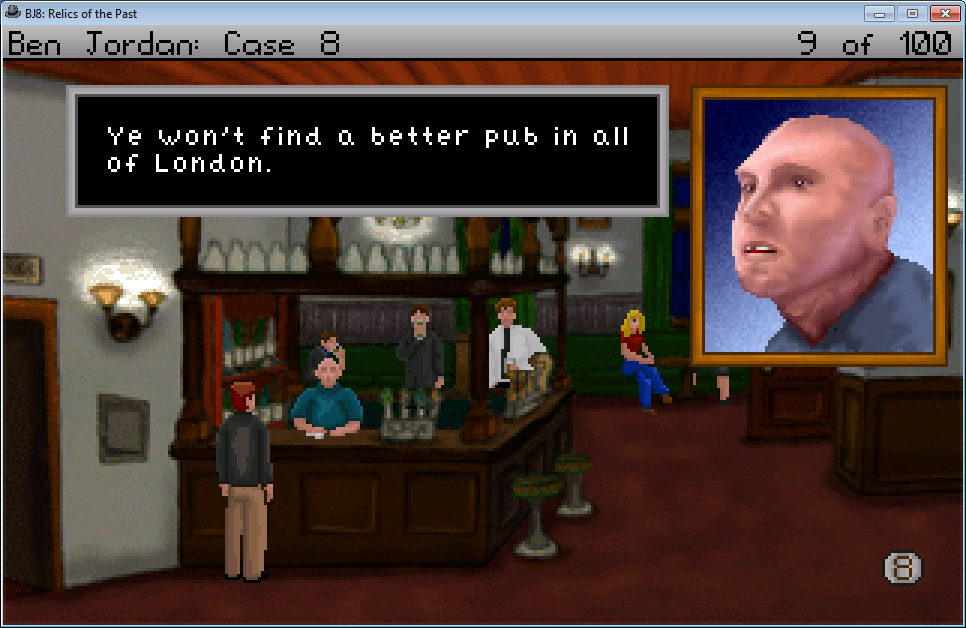 Ben Jordan: Paranormal Investigator Case 8 - Relics of the Past Windows Talking with Shamus the bartender.