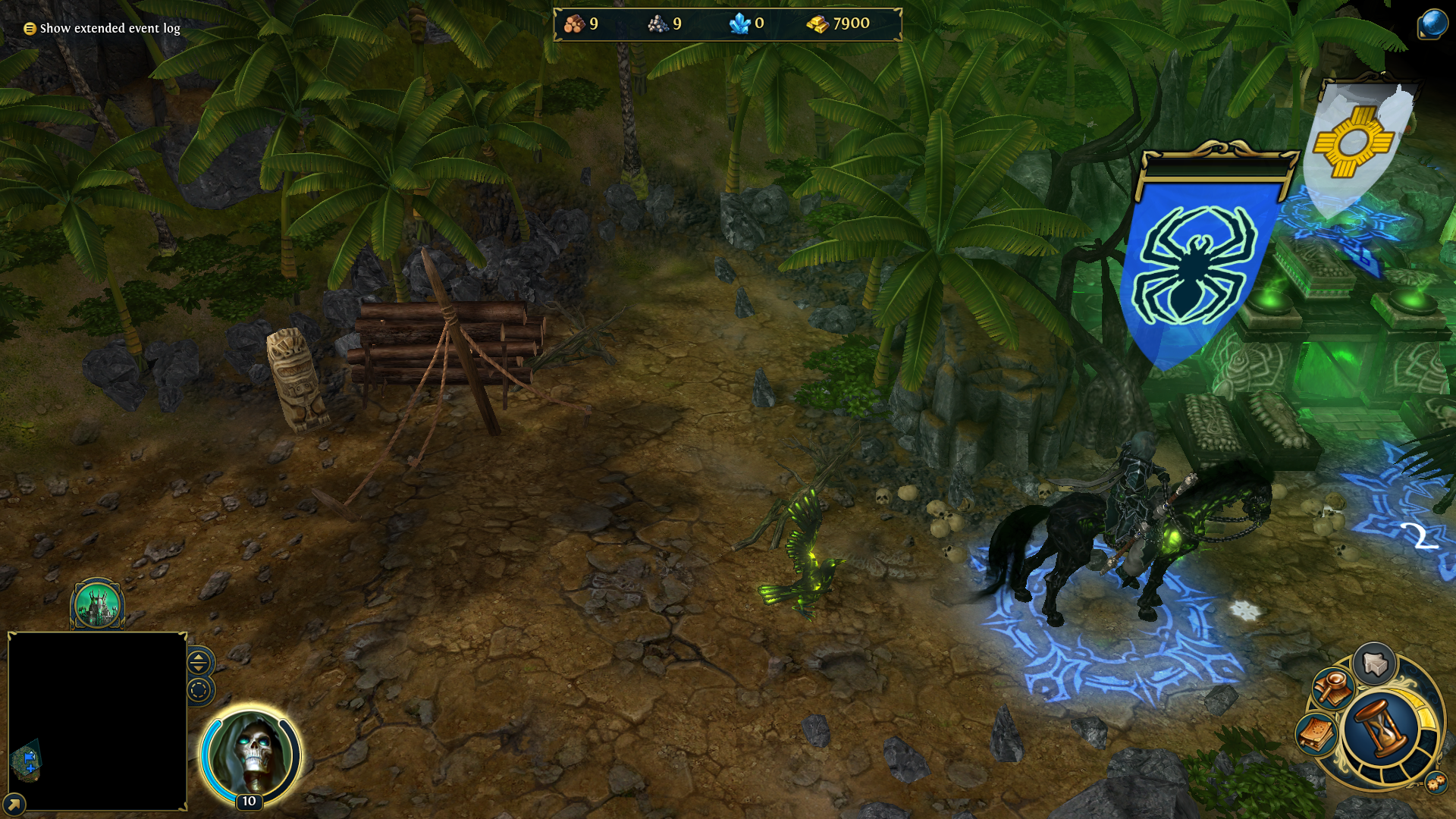 Might & Magic: Heroes VI - Danse Macabre Windows Sandro's pet, the raven Alma.