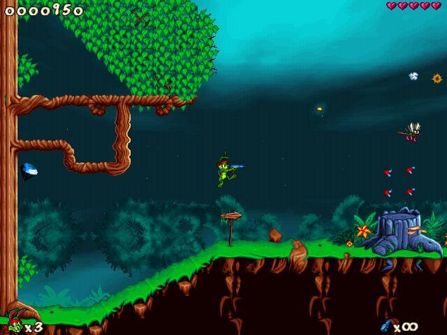 Jazz Jackrabbit 2 Windows Jazz in Forest...