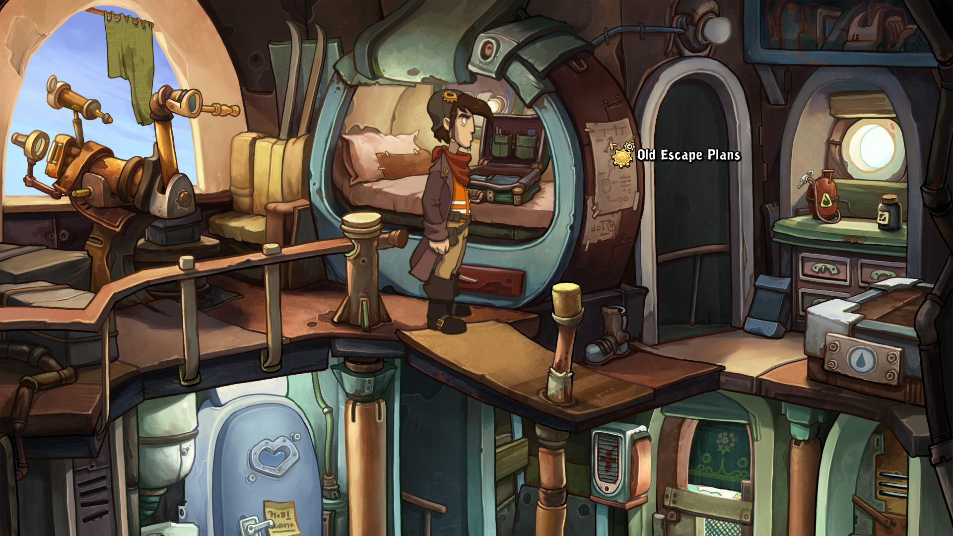 Deponia Windows Our hero in his room