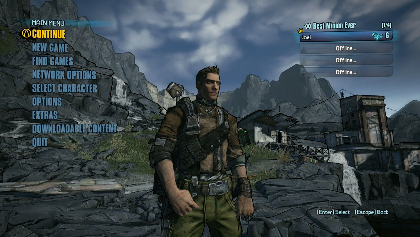 Borderlands 2 Windows Main Menu