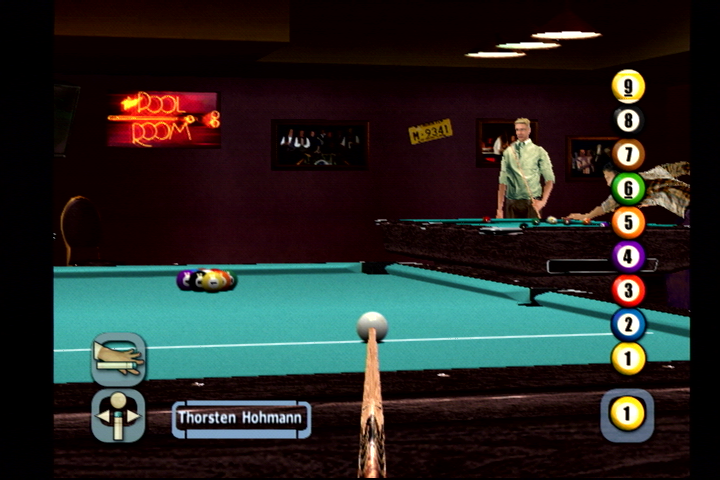World Championship Pool 2004 PlayStation 2 In-game