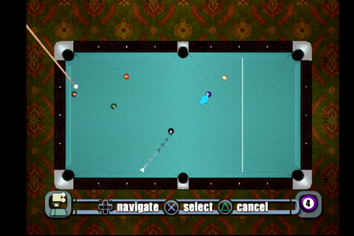 World Championship Pool 2004 PlayStation 2 Moving balls in free play mode