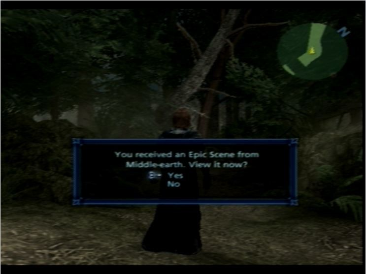 The Lord of the Rings: The Third Age PlayStation 2 You will see this menu a lot.