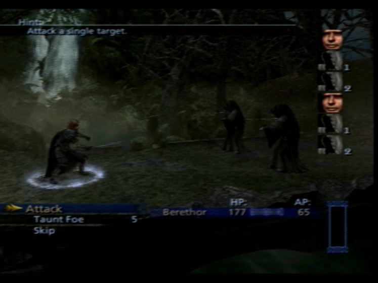 The Lord of the Rings: The Third Age PlayStation 2 The first fight.  Odds look bad but you've got to try!