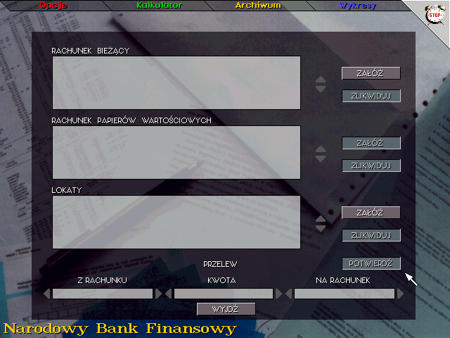 Inwestor DOS Types of accounts