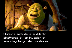 Shrek: Hassle at the Castle Game Boy Advance Story sequence