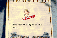 Shrek: Hassle at the Castle Game Boy Advance You need to protect a pig in this mission.