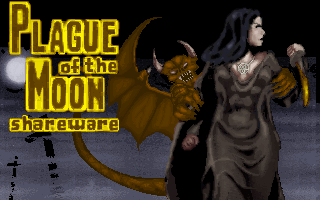 Plague of the Moon DOS Title Screen (Shareware)