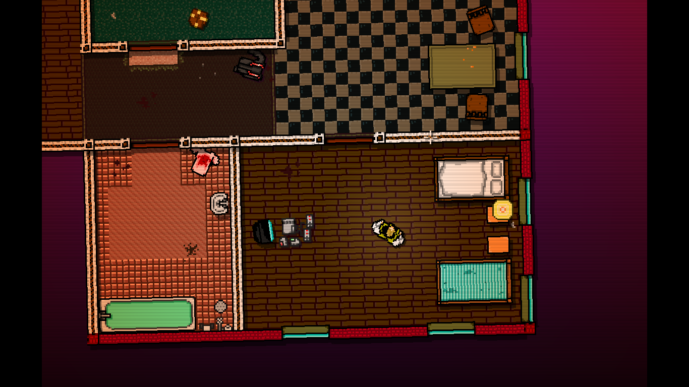 Hotline Miami Windows Inside Richard's apartment where every mission starts.