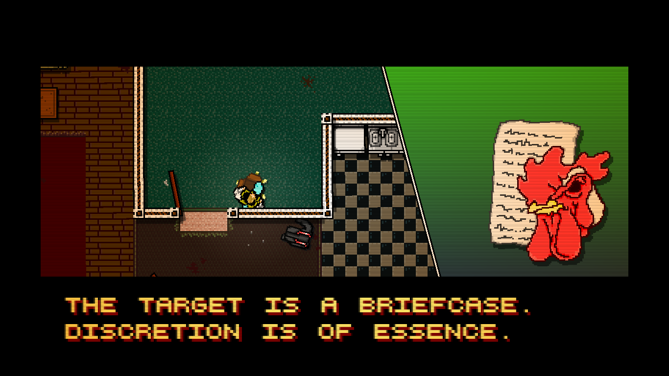 Hotline Miami Windows You receive the next mission through your phone.