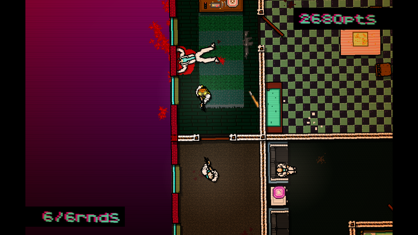 Hotline Miami Windows He can't see me yet, because the door is still closed.