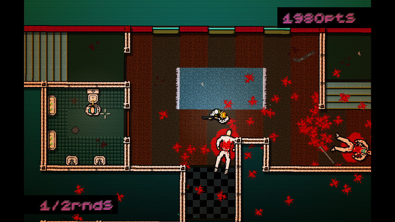 Hotline Miami Windows One more guy left and he is busy in the restroom.