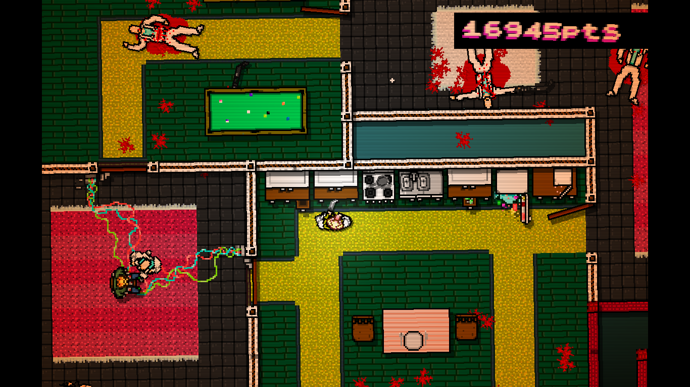 Hotline Miami Windows A strange situation where a man is tied to an explosive device.