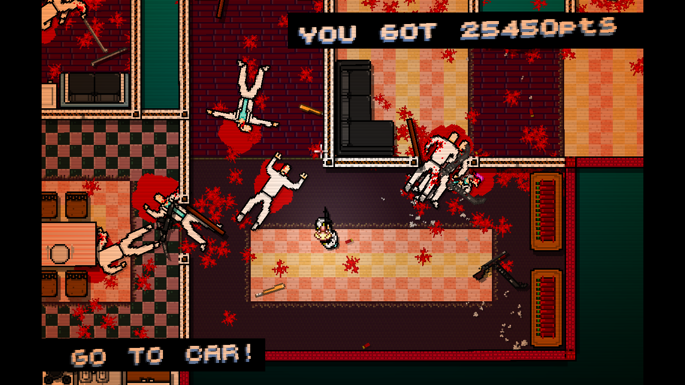 Hotline Miami Windows Once you draw attention, it can become quite hectic.