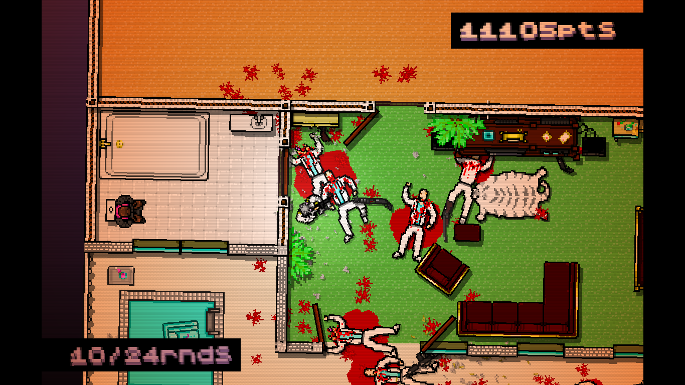 Hotline Miami Windows Only the boss is left in the restroom.