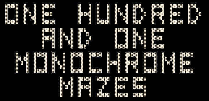 One Hundred and One Monochrome Mazes DOS Title screen (Hercules)