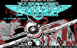 Wings of Fury DOS Title screen (CGA)
