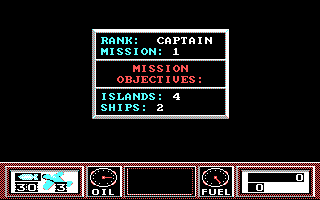 Wings of Fury DOS Mission overview, this is a tough one. (CGA)