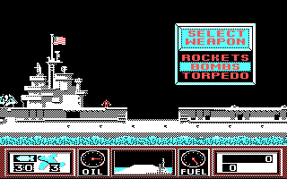 Wings of Fury DOS Wings of Fury DOS Selecting your weapons.