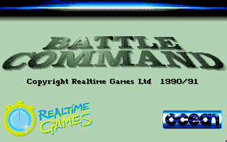 Battle Command DOS Title Screen 2 (VGA 256 color)
