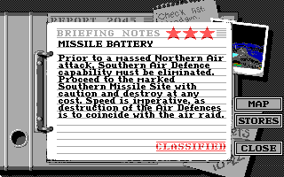 Battle Command DOS Mission briefing (EGA/Tandy)