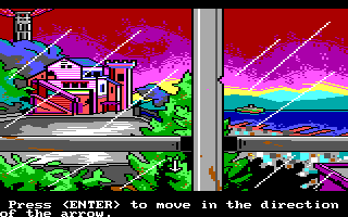 Manhunter 2: San Francisco DOS Looking out of the window