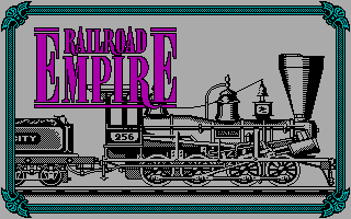 Railroad Empire DOS Title screen (CGA)