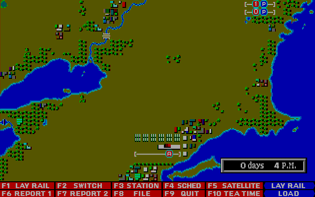 Railroad Empire DOS Start game - Map I America