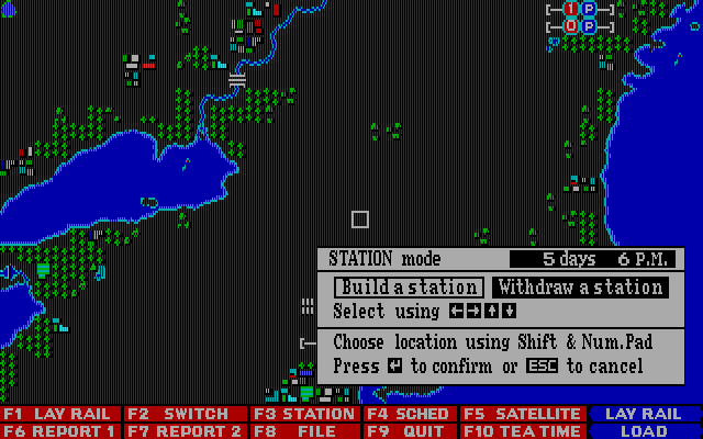 Railroad Empire DOS Station Mode - Map I America