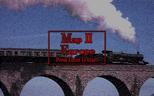 Railroad Empire DOS Map II Europe
