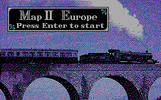 Railroad Empire DOS Map II Europe (CGA)