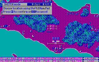 Railroad Empire DOS Switch Mode - Map II Europe (CGA)
