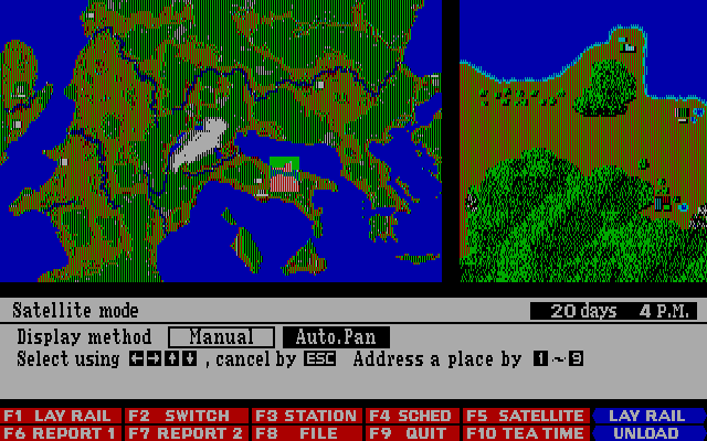 Railroad Empire DOS Satellite Mode - Map II Europe