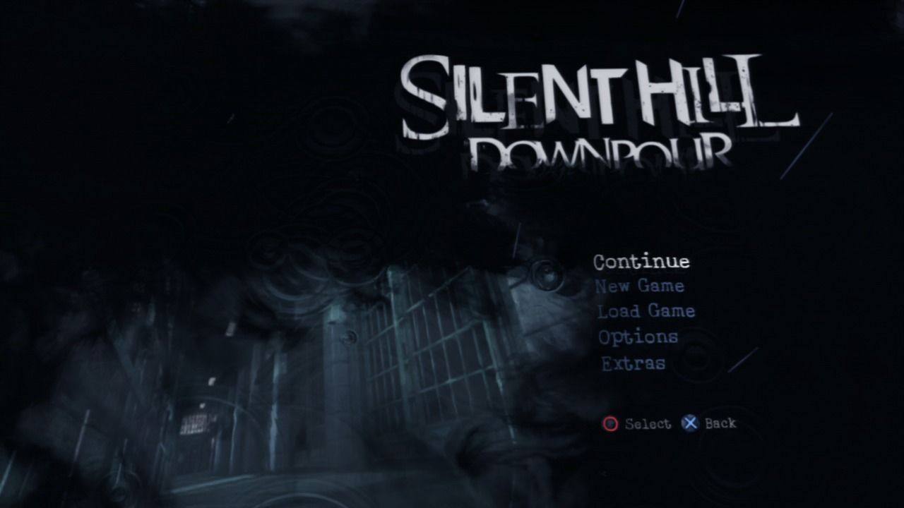 Silent Hill: Downpour PlayStation 3 Main menu