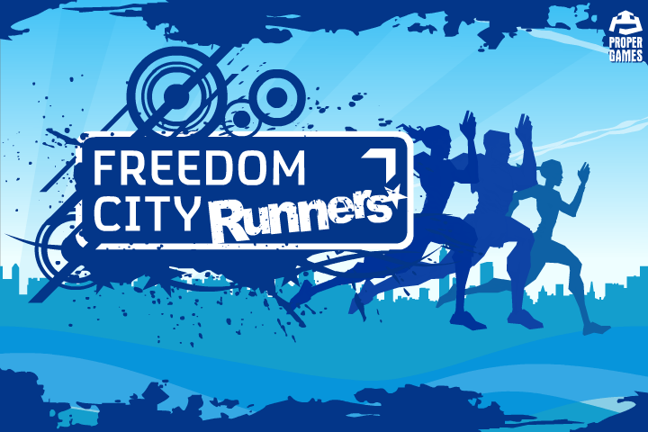 Freedom City Runners Browser Title screen