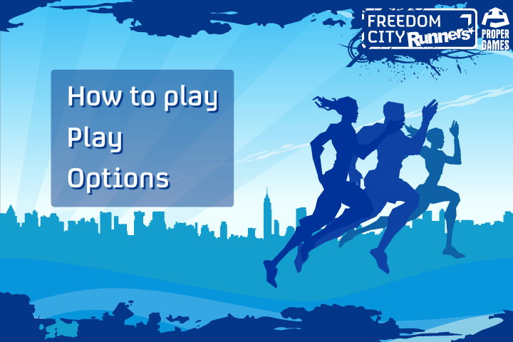 Freedom City Runners Browser Main menu