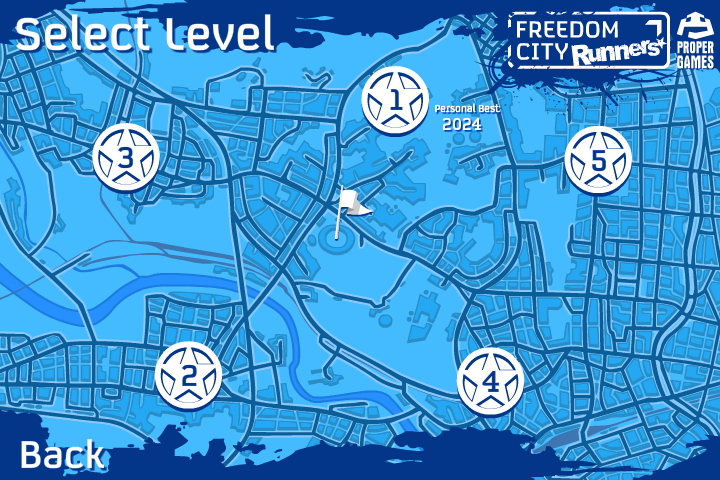 Freedom City Runners Browser There are five levels to choose from